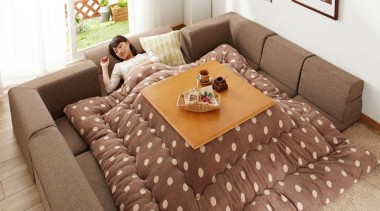 As if getting out of bed in the bed, chair, couch, cushion, floor, flooring, furniture, home, interior design, living room, room, sofa bed, table, brown, white