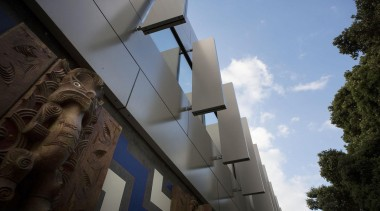 NOMINEETauranga Central Police Station (3 of 4) - architecture, building, daylighting, sky, structure, tourist attraction, black, teal