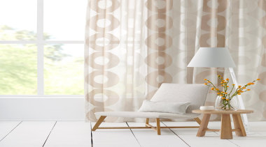 Horizon sheer drapery fabric - Horizon - chair chair, curtain, decor, floor, interior design, living room, product design, table, wall, wallpaper, window, window covering, window treatment, white