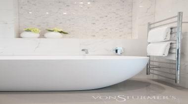 Lucerne Road - Lucerne Road - bathroom   bathroom, bathroom sink, bidet, ceramic, floor, flooring, interior design, plumbing fixture, product design, room, sink, tap, tile, toilet seat, wall, white
