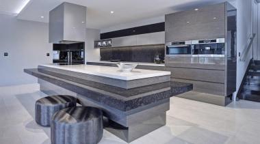 Walls Bros Designer Kitchens & TMA Kitchen Design countertop, floor, flooring, interior design, kitchen, tile, gray