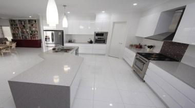 Winner Kitchen of the Year 2013 North Queensland countertop, cuisine classique, floor, flooring, interior design, kitchen, property, real estate, room, tile, gray