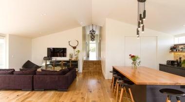 John St. 6 - ceiling   floor   ceiling, floor, flooring, home, interior design, kitchen, living room, property, real estate, room, white