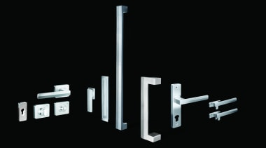 Designer range of hardware crafted from 316 marine-grade black and white, font, monochrome, product, black