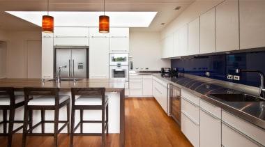 Karaka Bay Kitchen - Karaka Bay Kitchen - cabinetry, countertop, cuisine classique, floor, hardwood, interior design, kitchen, real estate, room, gray
