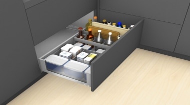AMBIA-LINE inner dividing system – organization at its drawer, floor, furniture, product, product design, table, gray, yellow