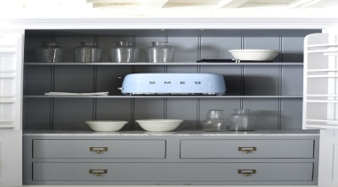 For more information, please visit www.smeg.co.nz cabinetry, chest of drawers, countertop, cupboard, furniture, kitchen, product design, shelf, shelving, gray, white