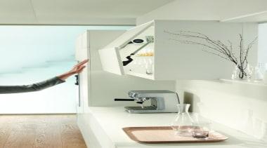 SERVO-DRIVE for AVENTOS - furniture   home   furniture, home, interior design, product design, room, shelf, tap, wall, white