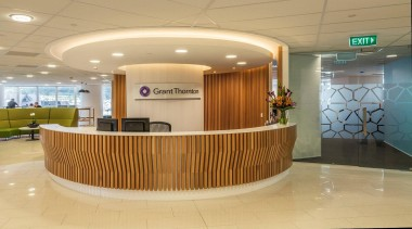 EXCELLENCE AWARDGrant Thornton House (1 of 4) - interior design, lobby, orange, brown