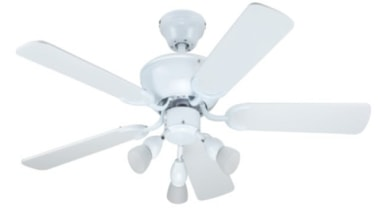 FeaturesThe Alba has a 1050mm plywood blade sweep ceiling fan, home appliance, mechanical fan, product, product design, white