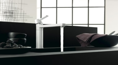 Kludi Zenta 04 - Kludi Zenta 04 - angle, bathroom, furniture, interior design, plumbing fixture, product, sink, table, tap, black, white