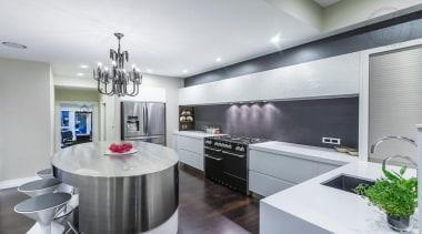 Sleek Kitchen - Sleek Kitchen - ceiling | ceiling, countertop, interior design, kitchen, real estate, gray, white