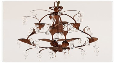 FeaturesA lovely classic style bell shaped design with chandelier, decor, light fixture, lighting, product design, white