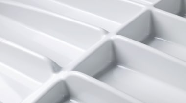 High quality, environmentally compatible plastic cutlery drawer organisersSuits product, tap, white
