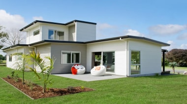Stria Cladding - Stria Cladding - backyard | backyard, cottage, elevation, facade, grass, home, house, property, real estate, residential area, siding, yard
