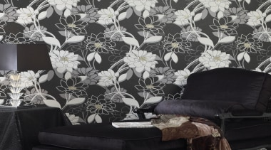 Statements Range - Statements Range - black | black, black and white, decor, flora, interior design, wallpaper, black