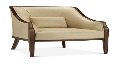 The work of William Sofield is defined not armrest, chair, club chair, couch, furniture, loveseat, product design, white