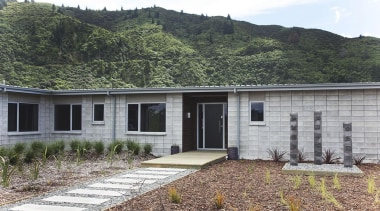 For more information, please visit www.gjgardner.co.nz cottage, facade, home, house, landscape, property, real estate, gray, black