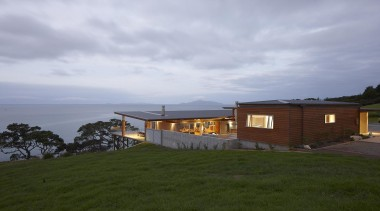 Waipu - Panoramic Views - waipu - architecture architecture, cloud, cottage, estate, facade, home, house, property, real estate, residential area, sky, gray, brown