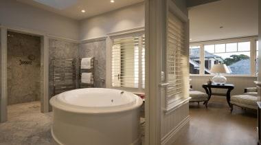 Master ensuite - Master ensuite - bathroom   bathroom, estate, home, interior design, real estate, room, window, brown, gray