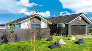 Landmark Homes Waiata Design - Landmark Homes Waiata cottage, facade, farmhouse, home, house, hut, log cabin, property, real estate, shed, siding, sky