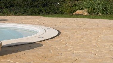 Exterior and Outdoor Lights - Exterior and Outdoor flagstone, floor, outdoor structure, road surface, orange, brown