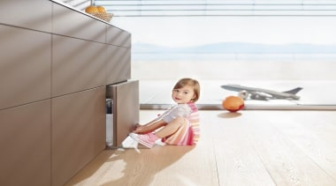 TIP-ON BLUMOTION for LEGRABOX - child | floor child, floor, flooring, furniture, product design, sitting, table, wood, white
