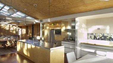 Mangawhai Heads, Northland - Point House - ceiling ceiling, countertop, interior design, kitchen, loft, real estate, brown
