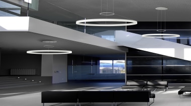 CIRC from LEDS-C4, Spain - Pendant Light - architecture, ceiling, daylighting, interior design, product design, structure, black, gray