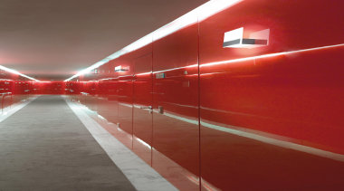 Wall Lights - Wall Lights - architecture | architecture, ceiling, daylighting, light, lighting, line, red, structure, wall, red