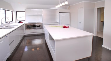 Cork Concepts provides luxury eco flooring in unlimited cabinetry, countertop, cuisine classique, interior design, kitchen, property, real estate, room, gray