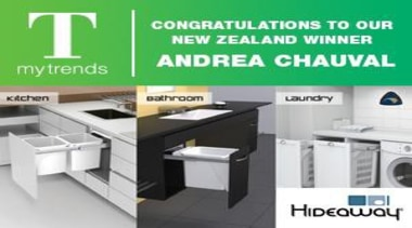 Congratulations to our New Zealand WInner - Hidden desk, furniture, product, table, white, green
