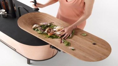 This Philips integrated chopping-board sink makes for a product design, table, white