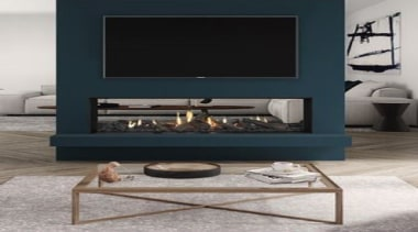View the Escea Fireplace RangeVisit our showrooms coffee table, fireplace, furniture, hearth, table, black, gray