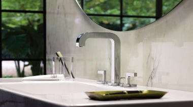 axor citterio ambience for Hansgrohe - axor citterio countertop, glass, interior design, plumbing fixture, product design, sink, tap, white