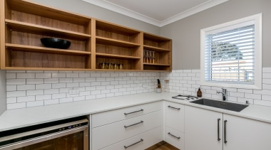 A large scullery complements this kitchen with great cabinetry, countertop, cuisine classique, interior design, kitchen, real estate, room, wood, gray