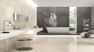 Trilogy Moon Beige - Trilogy Moon Beige - bathroom, ceramic, floor, flooring, interior design, tap, tile, wall, white, gray