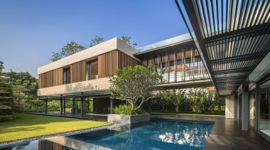 Wallflower Architecture + Design, SingaporeSee the full apartment, architecture, building, condominium, corporate headquarters, estate, facade, home, house, mixed use, property, real estate, residential area, swimming pool, villa, teal