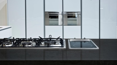 Dreis is one of the new Nebula Code countertop, glass, kitchen, sink, tap, white, black