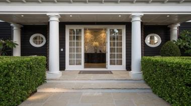 Entrance - courtyard   door   estate   courtyard, door, estate, facade, home, house, outdoor structure, porch, property, real estate, structure, walkway, window, gray