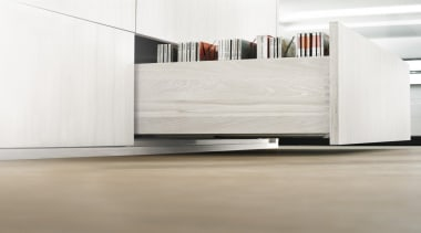 MOVENTO offers a feather-light glide for wooden drawers floor, flooring, furniture, hardwood, laminate flooring, plywood, product, tile, wood, wood flooring, white
