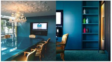 Entrant - Scott Weston Architecture Design. Month - blue, furniture, home, interior design, living room, room, table, teal
