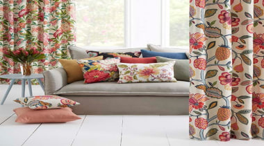 Floranova 1 - Floranova 1 - curtain | curtain, cushion, furniture, interior design, living room, textile, window, window covering, window treatment, white