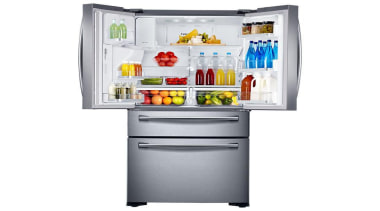 Refrigerator – French door – SRF679SWLSThe new Samsung home appliance, kitchen appliance, major appliance, product, refrigerator, white