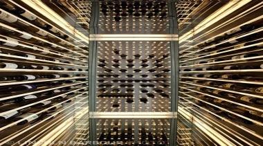 Modern Wine Cellar Ideas - Modern Wine Cellar architecture, building, ceiling, metropolis, pattern, symmetry, brown, black