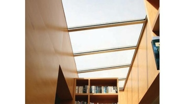 Windowmakers roof windows and skylights provide an ideal angle, architecture, ceiling, daylighting, interior design, lighting, shade, wall, window, wood, white