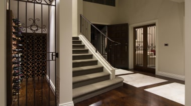 Img3520 - baluster   door   floor   baluster, door, floor, flooring, handrail, hardwood, home, interior design, iron, property, stairs, window, brown, black