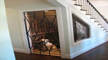 Modern Wine Cellar Ideas - Modern Wine Cellar baluster, door, floor, flooring, handrail, hardwood, home, interior design, property, stairs, wall, window, gray