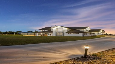 Classic meets contemporary - Classic meets contemporary - architecture, atmosphere, cloud, cottage, estate, evening, field, home, horizon, house, landscape, morning, night, real estate, reflection, residential area, rural area, sky, suburb, blue, brown