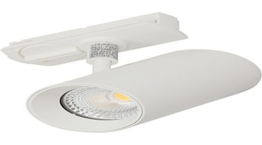 FeaturesThe Novara is a compact LED track spotlight. lighting, product design, white